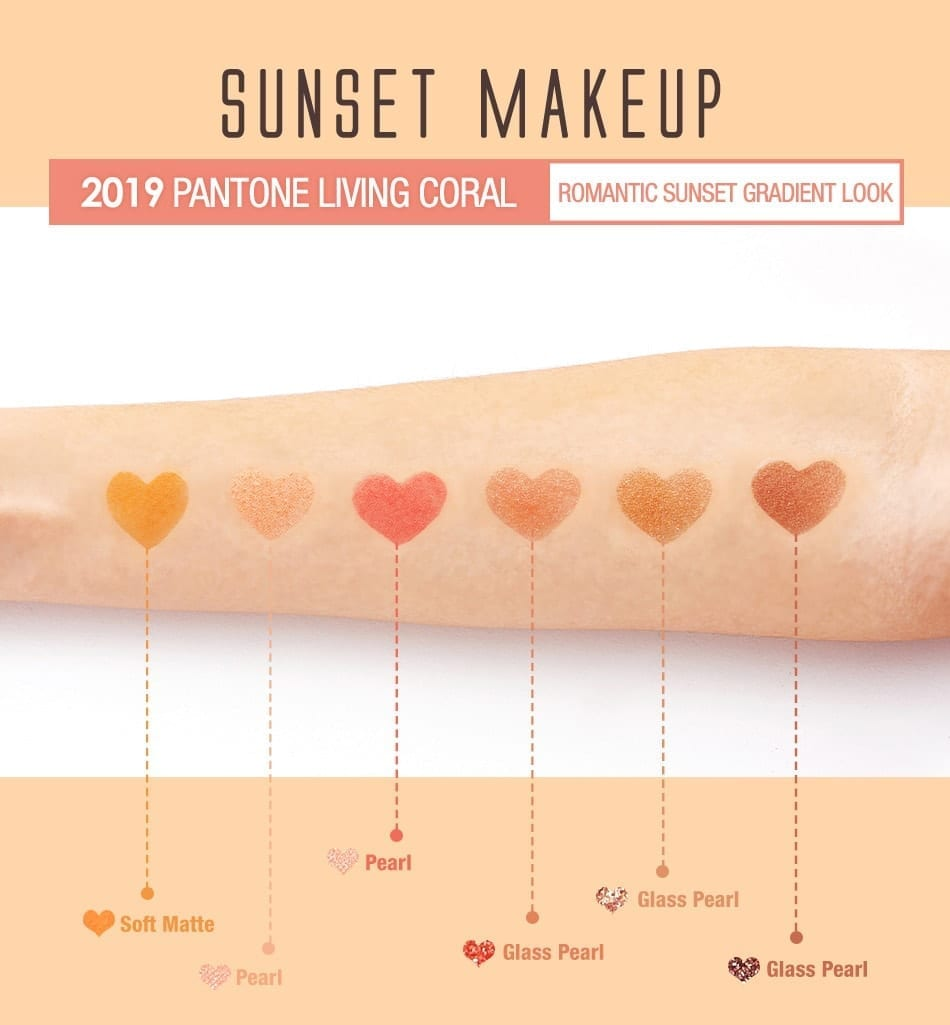 BeautyMaker Sunset Multi–Texture Eyeshadow Palette - materials