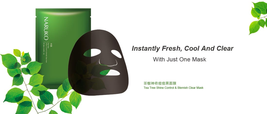 Naruko Tea Tree Shine Control & Blemish Clear Mask - details