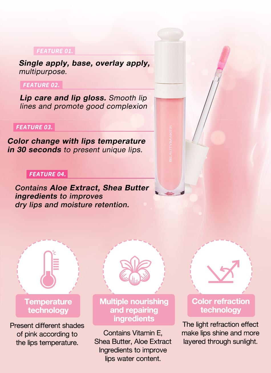Color Awakening Lip Gloss - Features