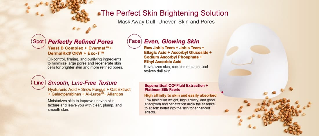Pore Minimizing & Brightening Mask - Features