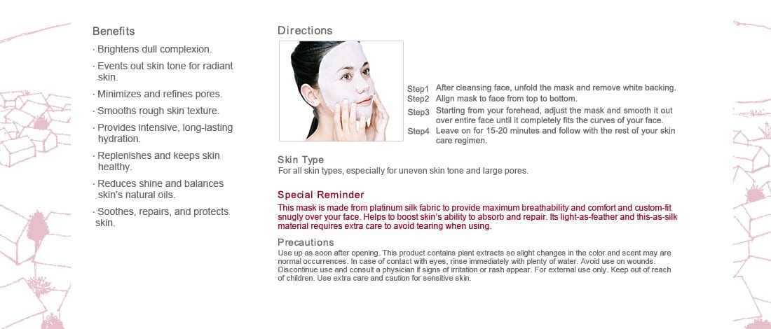 Pore Minimizing & Brightening Mask - Benefits and directions