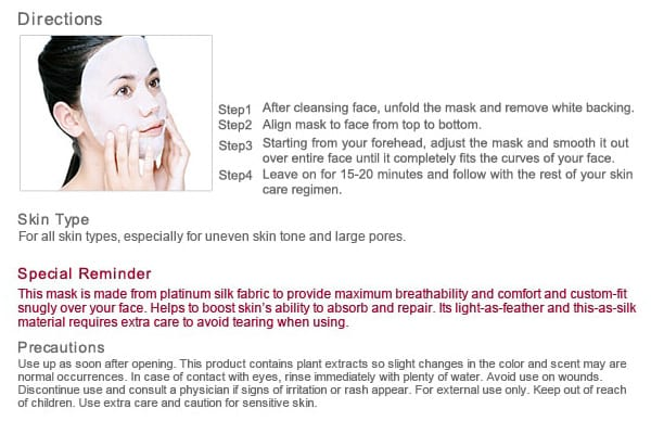 Pore Minimizing & Brightening Mask - Usage