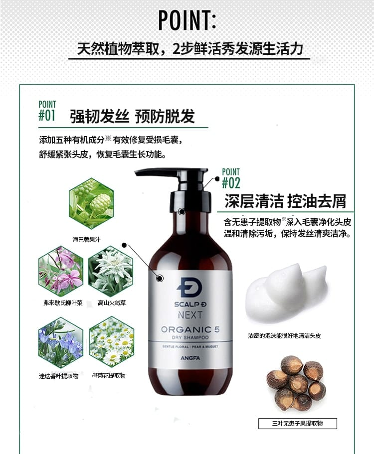 Organic 5 Shampoo Dry Type - Points