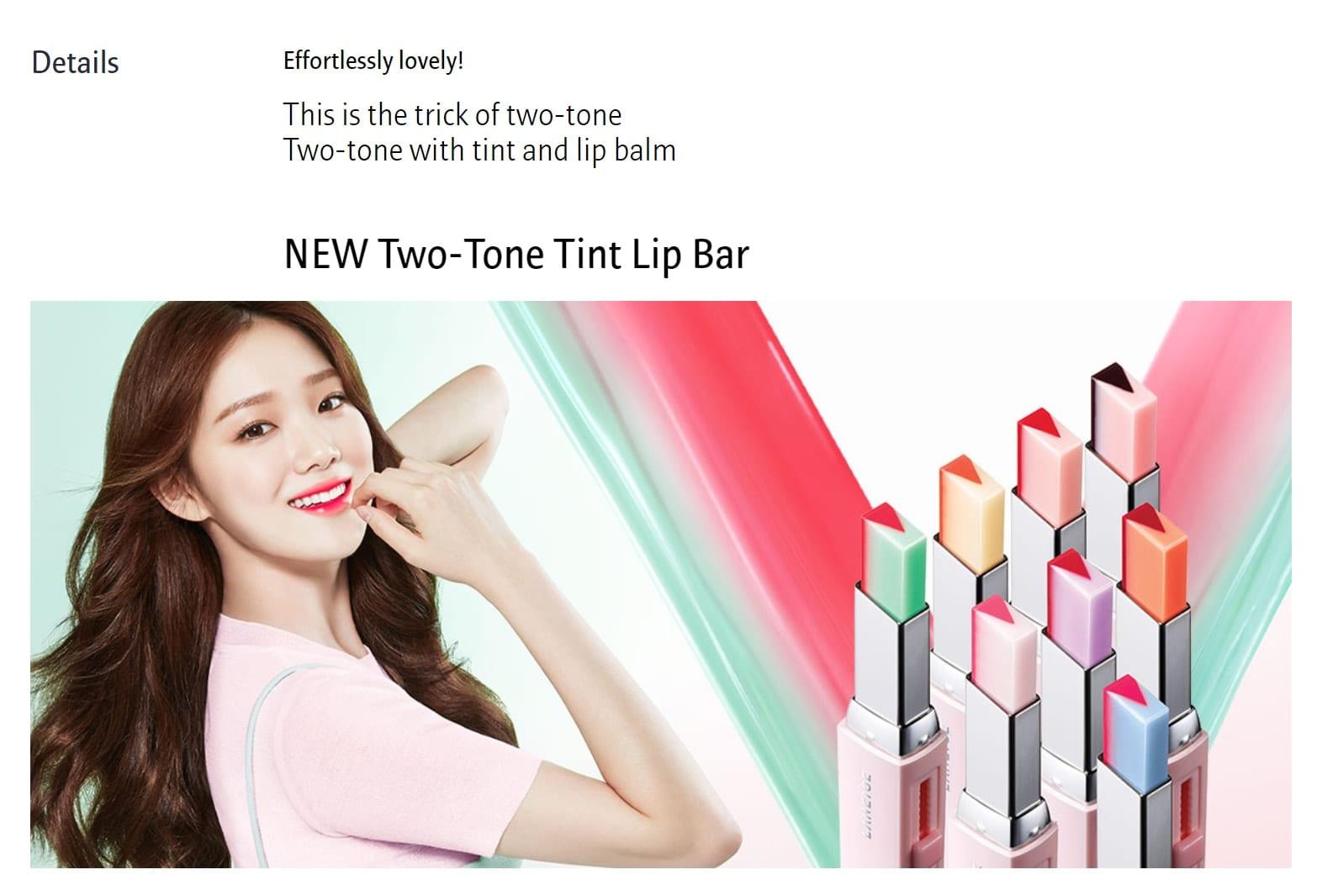Laneige Two Tone Tint Lip Bar - details