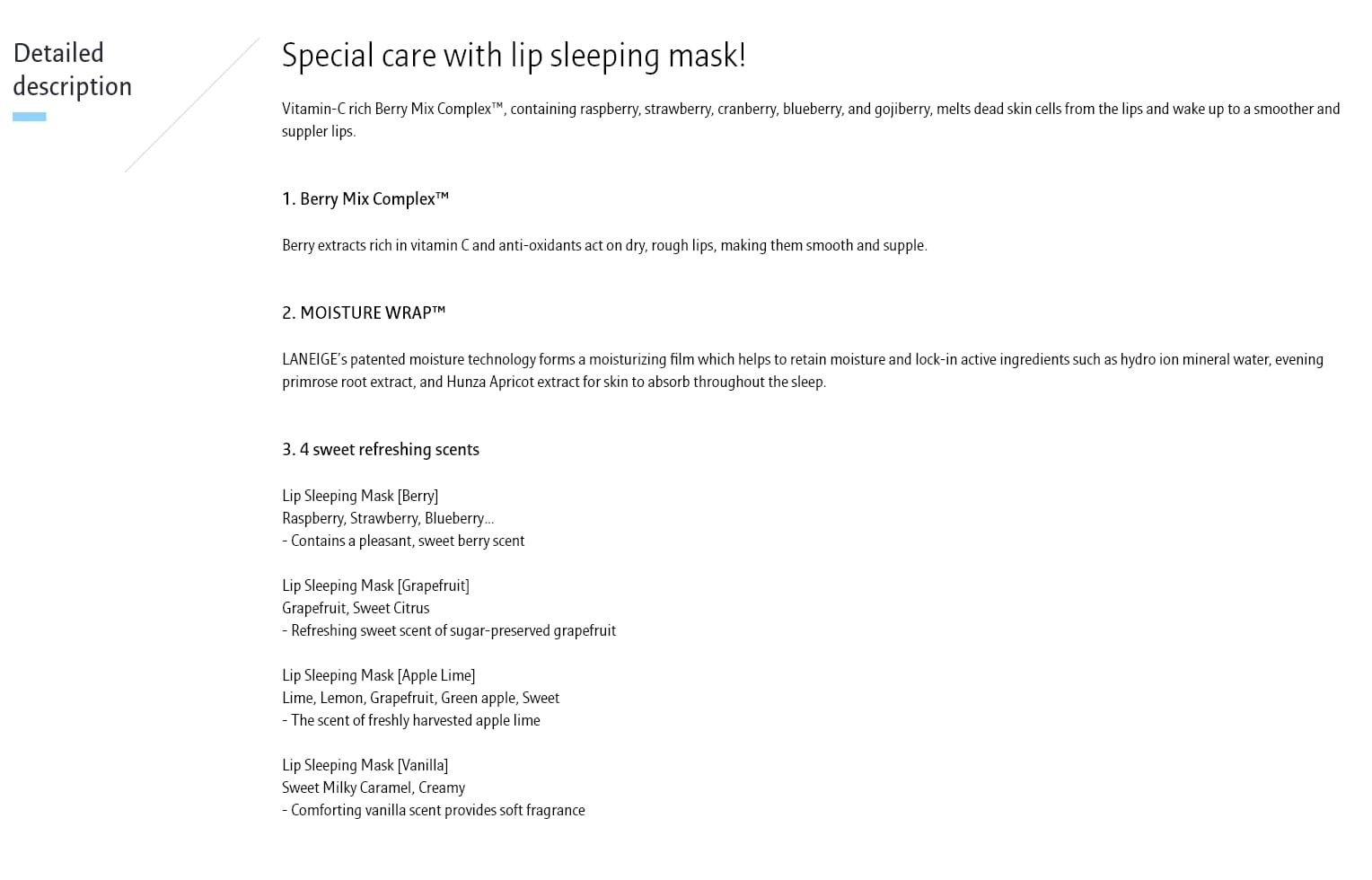 Laneige Lip Sleeping Mask - details