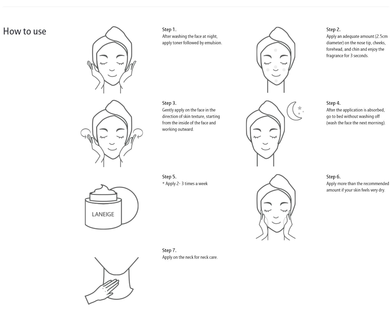 Laneige Water Sleeping Mask (Lavender) - how to use