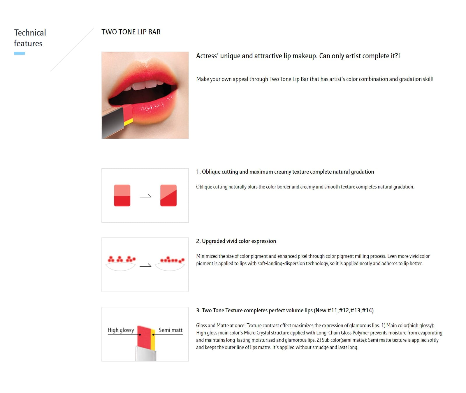 Laneige Two Tone Lip Bar - details