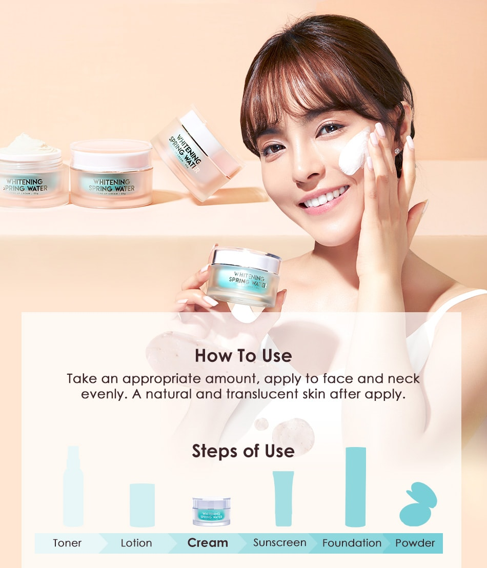Whitening Tone Up Cream - Usage