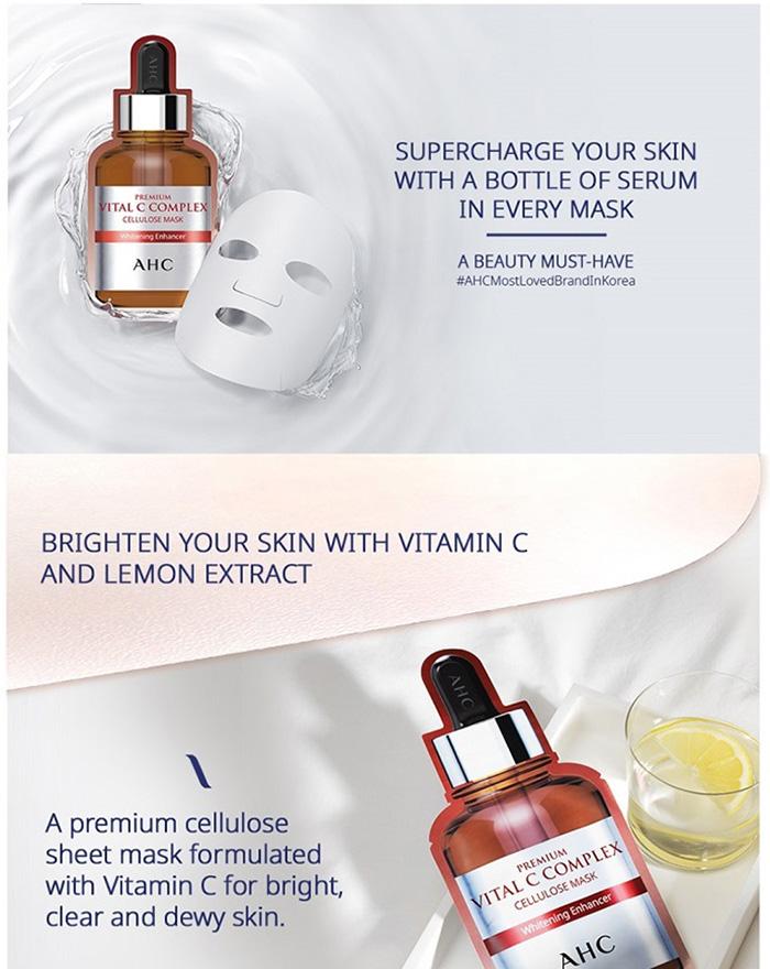 AHC Premium Vital C Complex Cellulose Mask - details