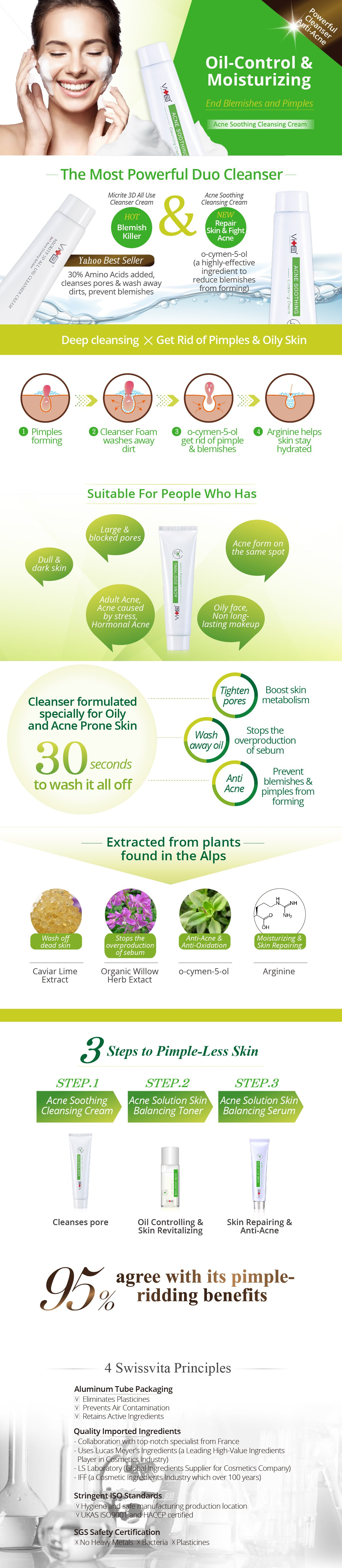Acne Soothing Cleansing Cream - Description Image