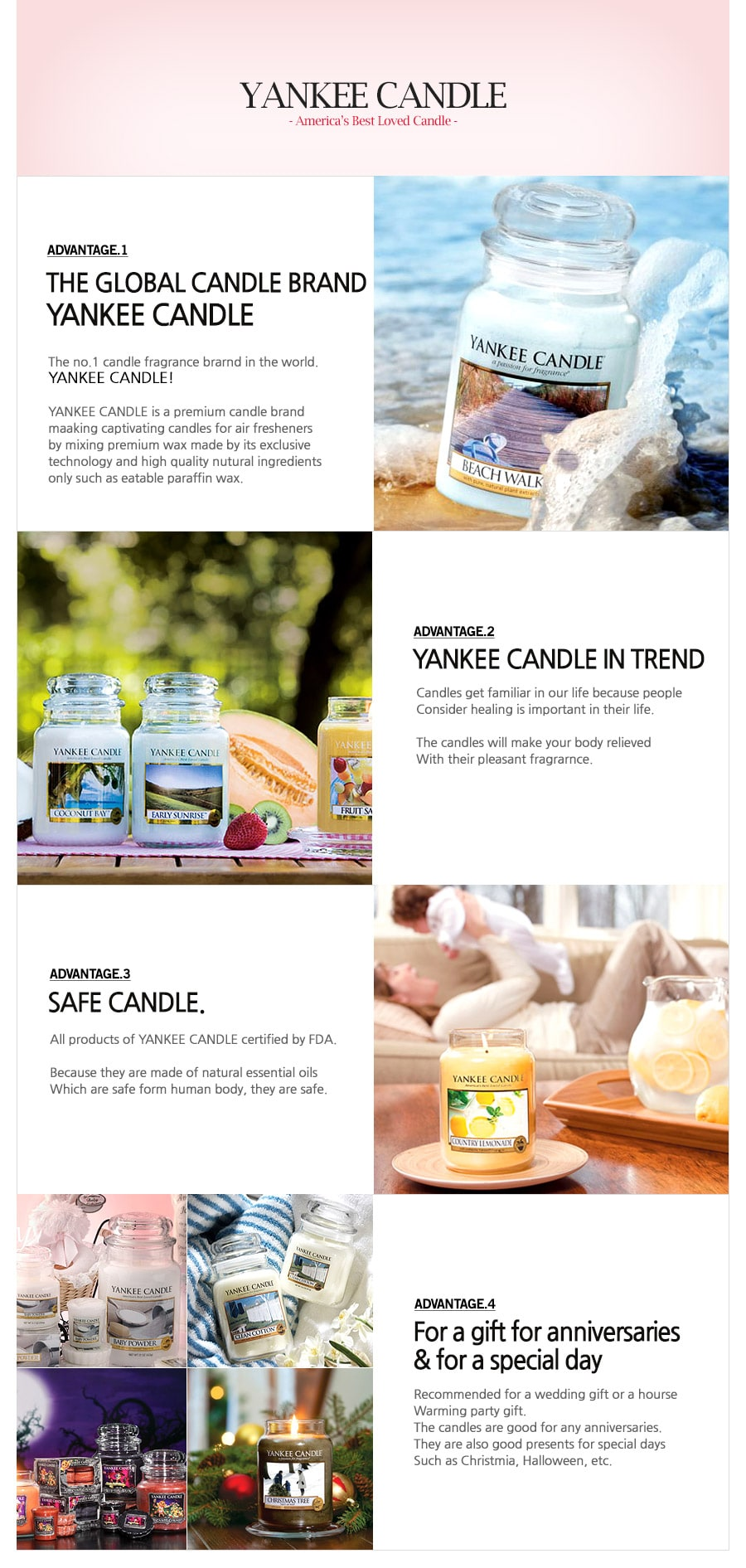 Candles Home Sweet Home - Benefits