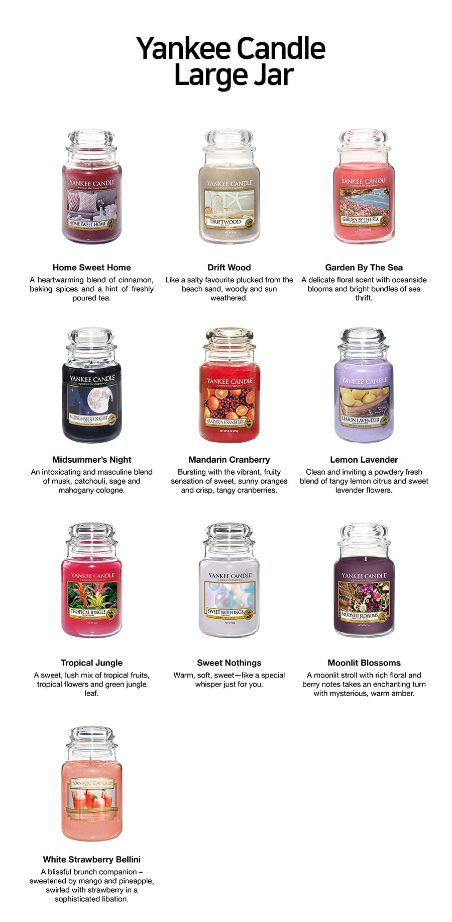Large Jar Candles-Scents