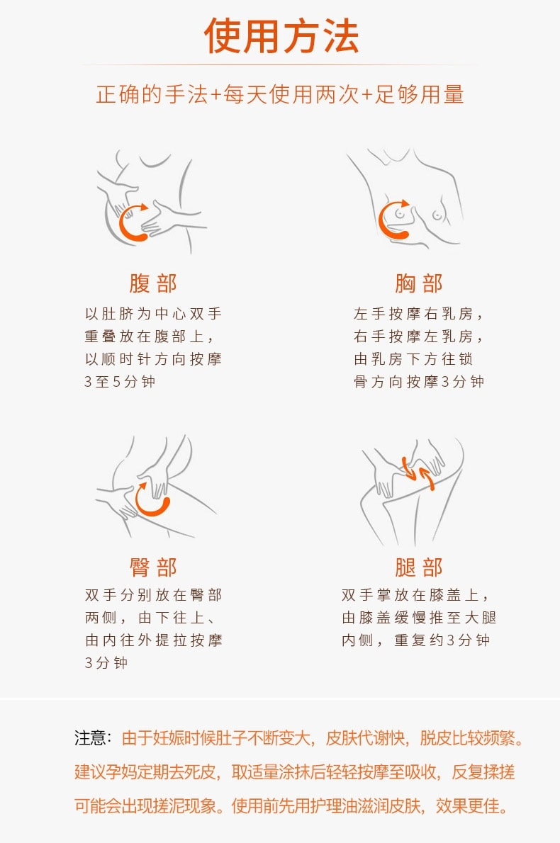 Stretch Marks Massage Lotion - Usage