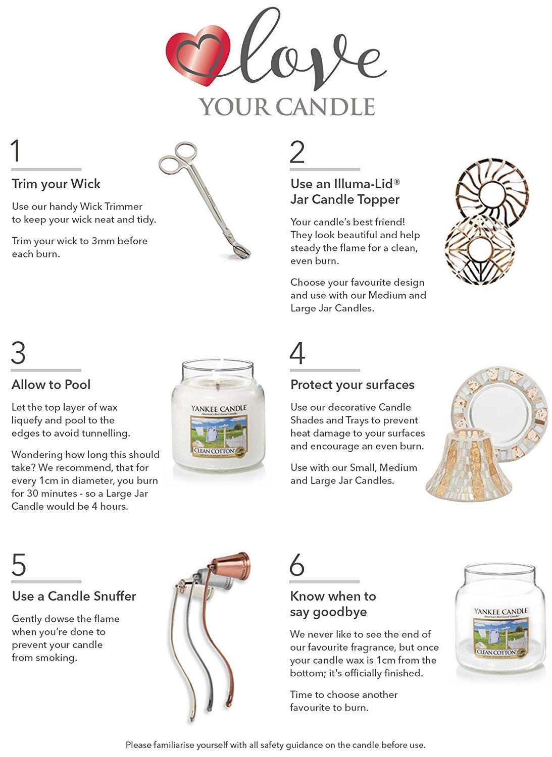 Jar Candles Sweet Nothings - How to use