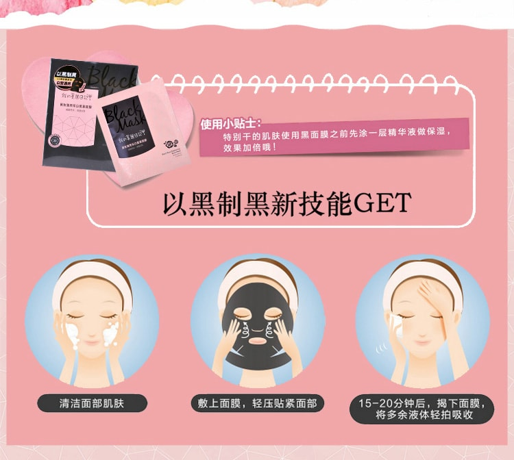 Rose Brightening Black Mask - How to use