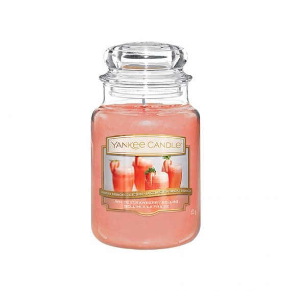 Candles White Strawberry Bellini - Display Image