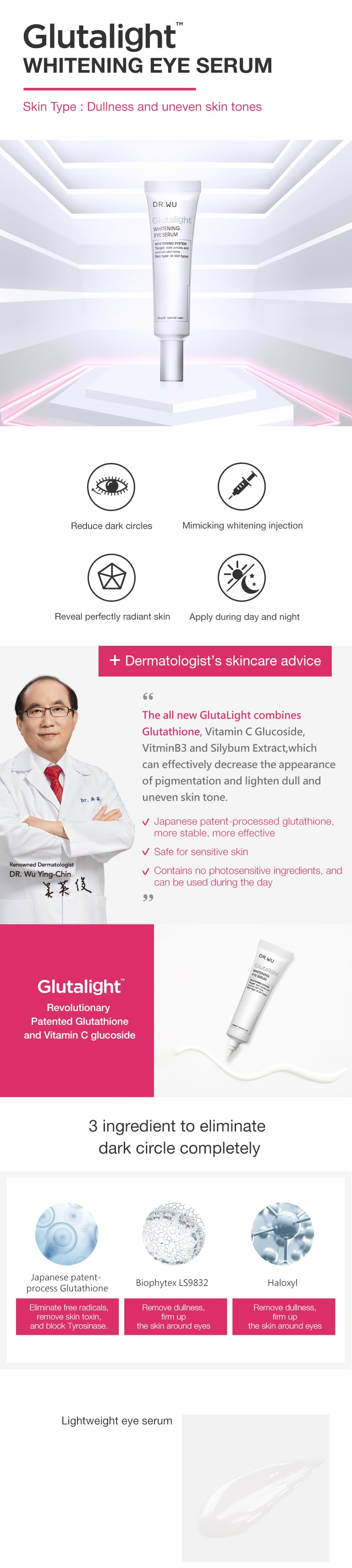 Glutalight Whitening Eye Serum - Introduction