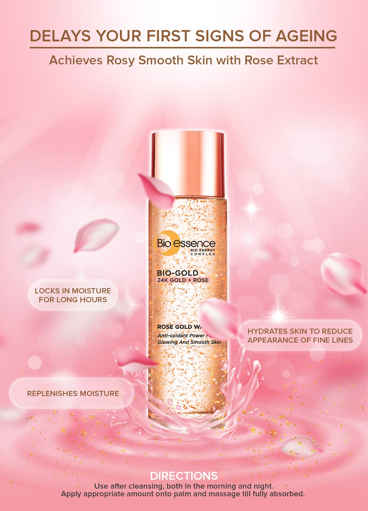 Bio-Gold Rose Gold Water - Benefit