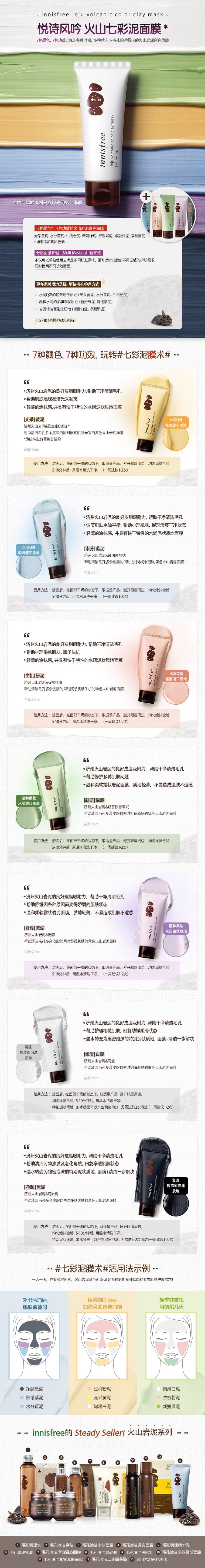 Jeju Volcanic Color Clay Mask - Info