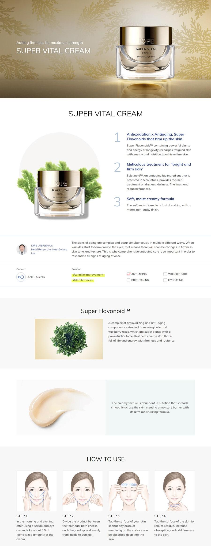 IOPE Super Vital Cream - Features