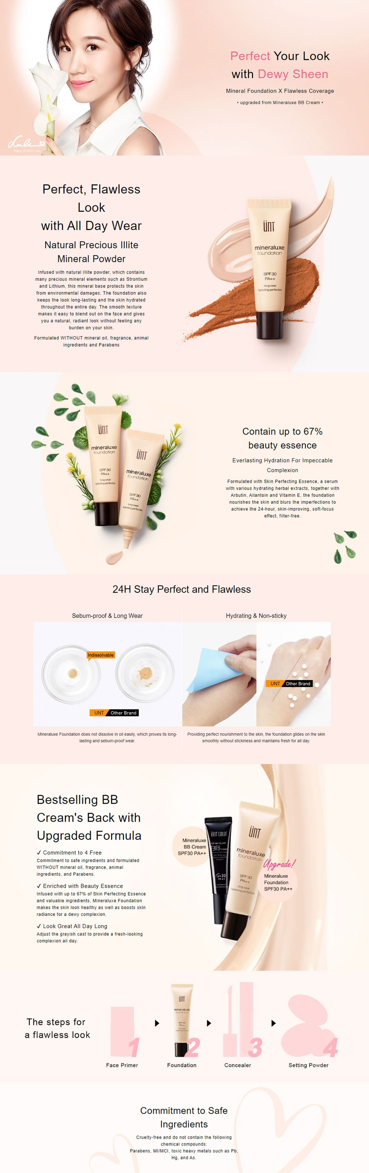 Mineraluxe Long Wear Foundation - Intro
