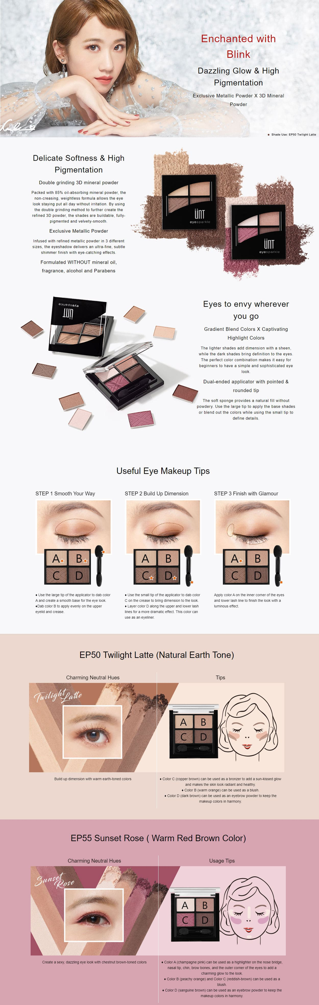Eye Sparkle Eyeshadow Palette - Intro