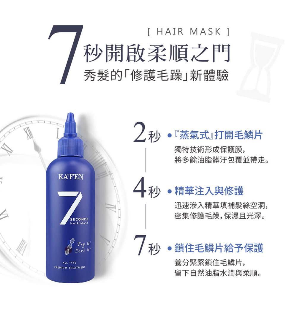 7 Seconds Hair Mask - Formula
