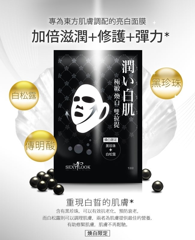 Black Pearl Double Lifting Mask - Intro