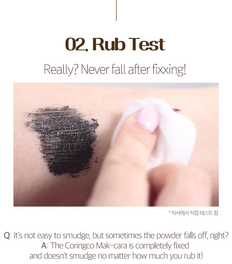 Mak-Cara Long Lash Curling - Rub Test