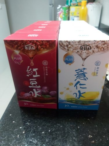 [Mother's Day Bundle] Ejia Slim Q Powder Packet Drink (Collagen Barley) 12 Boxes photo review