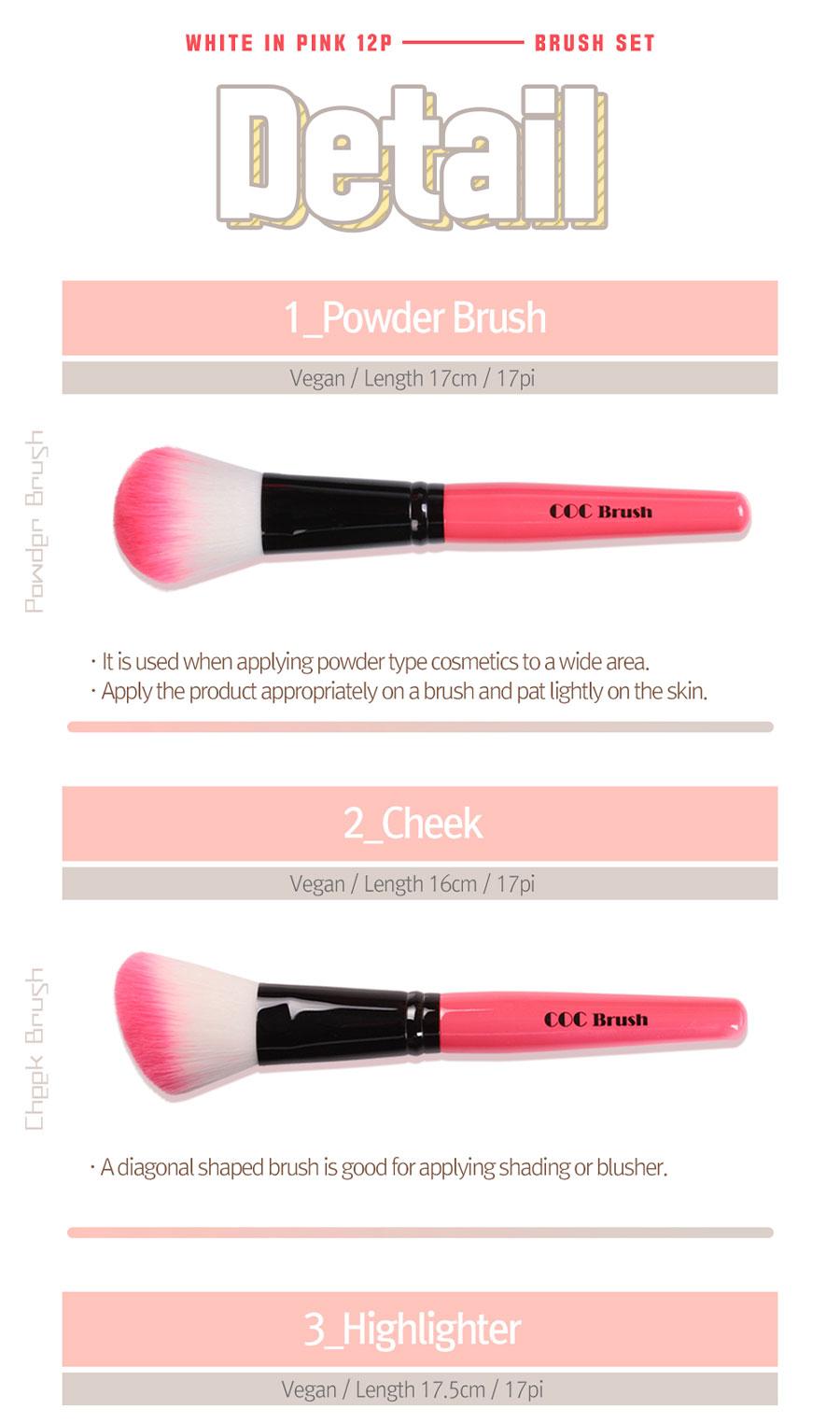 White In Pink Brush - Detail