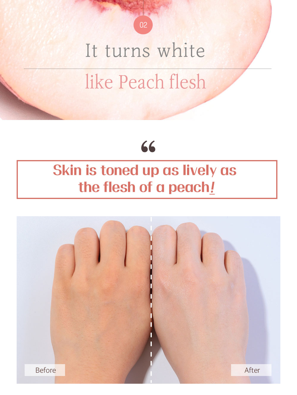 Peach Tone Up Cream - Effect