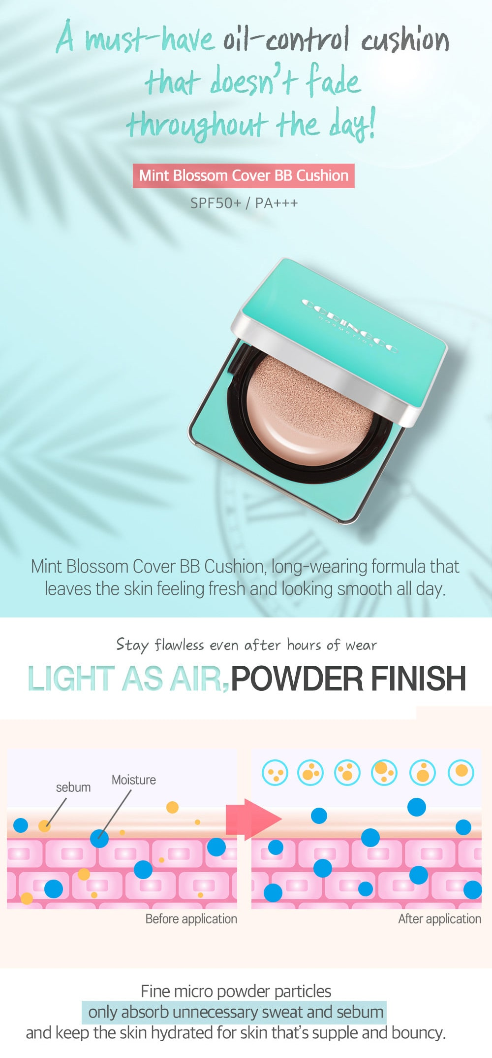 Mint Blossom BB Cushion - Features