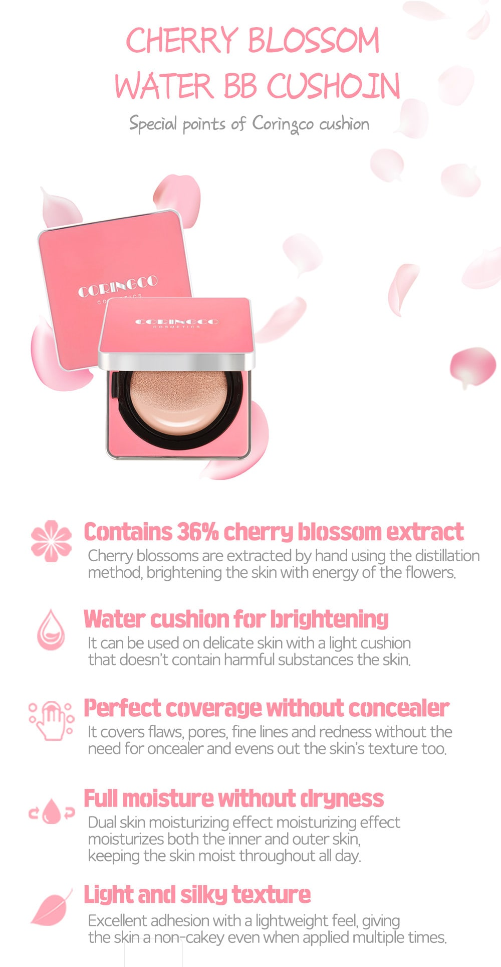 Cherry Blossom BB Cushion - Benefits