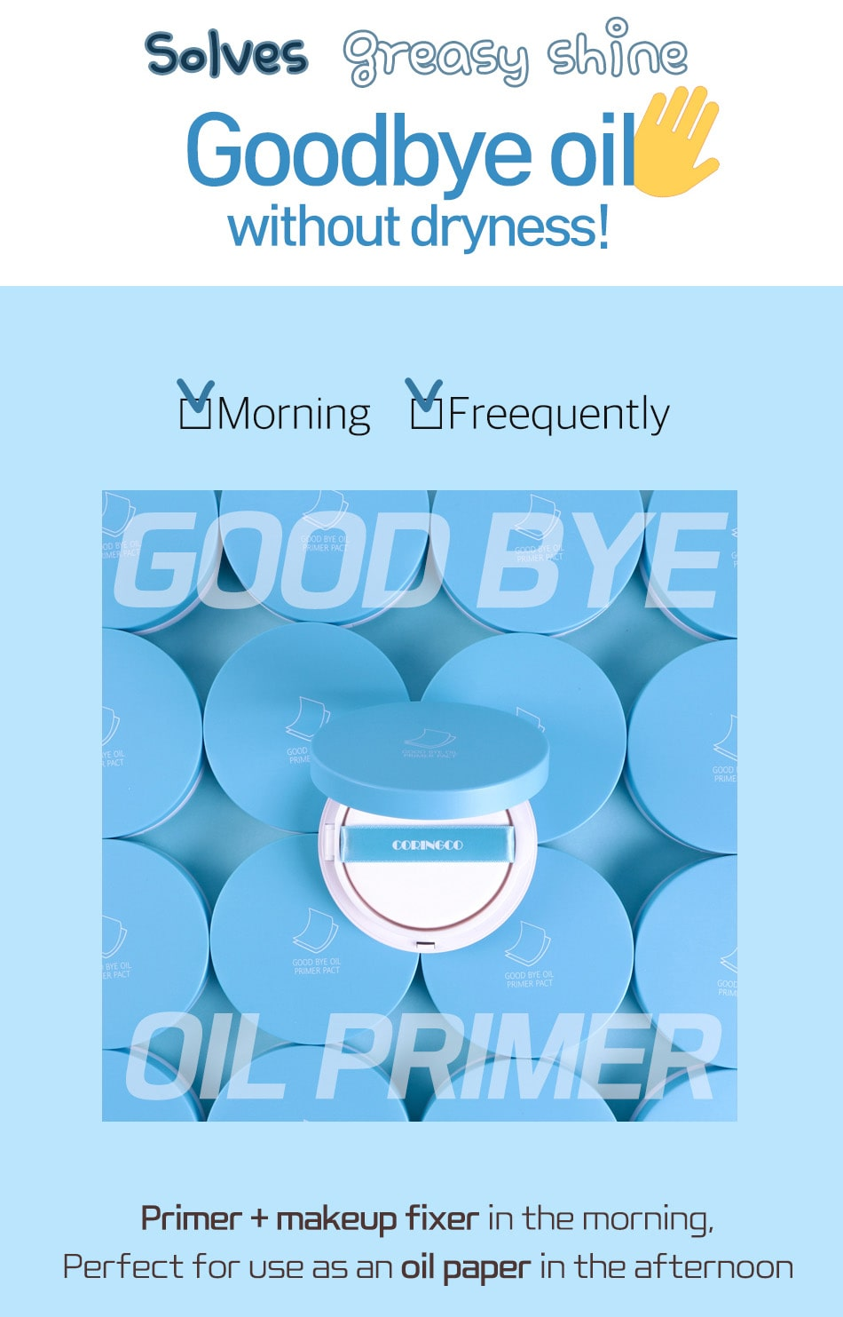 Goodbye Oil Primer Pact - Features