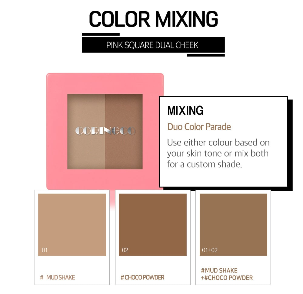 Pink Square Dual Shading - Color Mixing