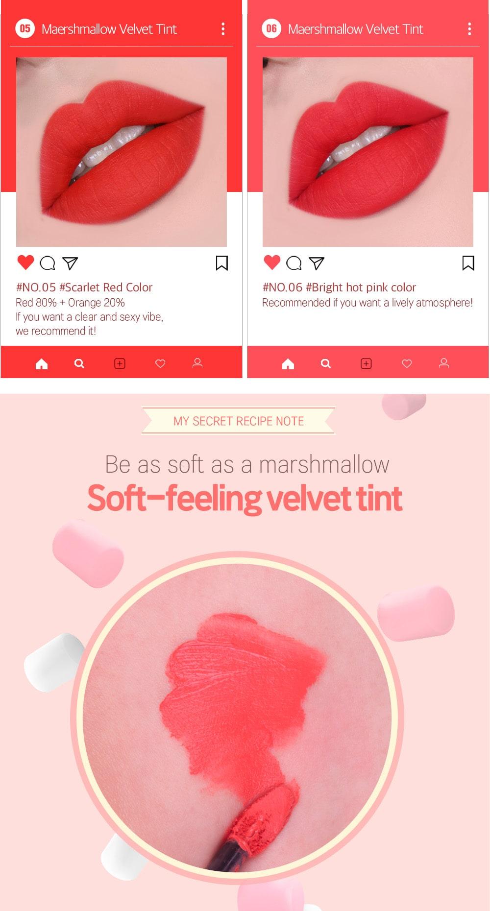 Marsh Mallow Velvet Tint - Colors