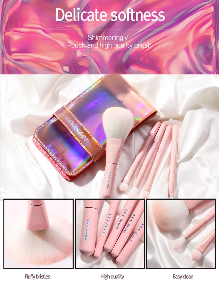 Pink Hologram Makeup Brush - Features