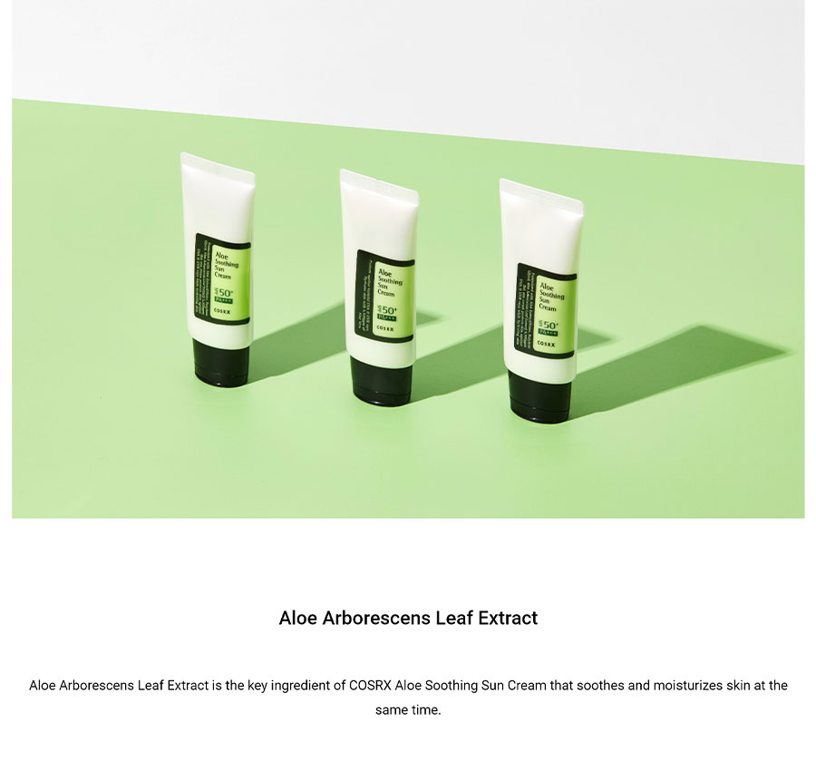 Aloe Soothing Sun Cream - Ingredient