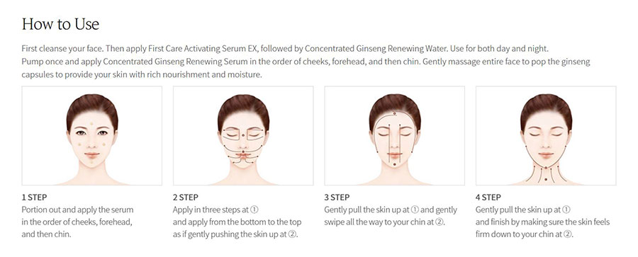Concentrated Ginseng Renewing Serum - How to use