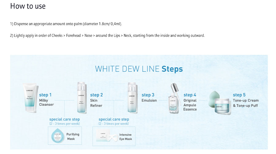 White Dew Emulsion - How to use
