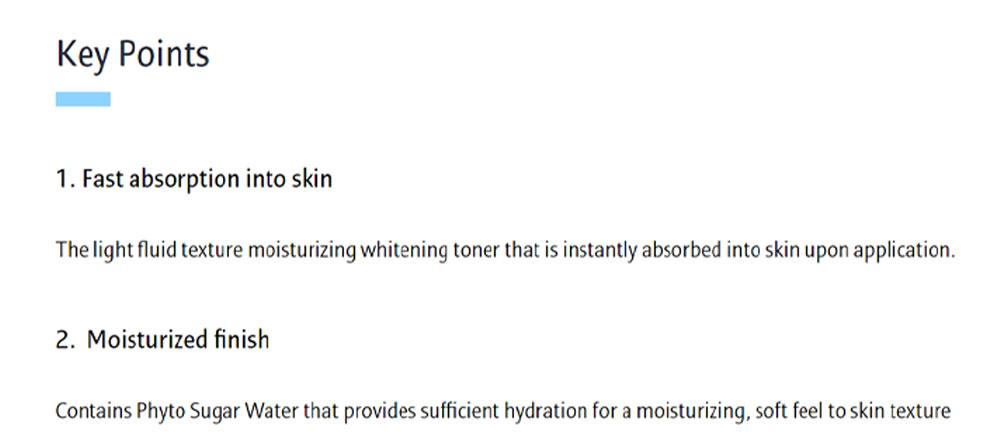 White Dew Skin Refiner - Key Point