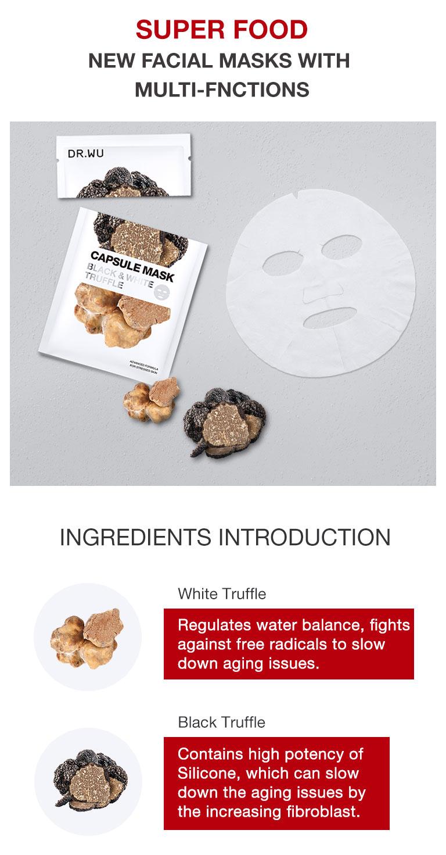 Truffle Hydrating Capsule Mask - Ingredient