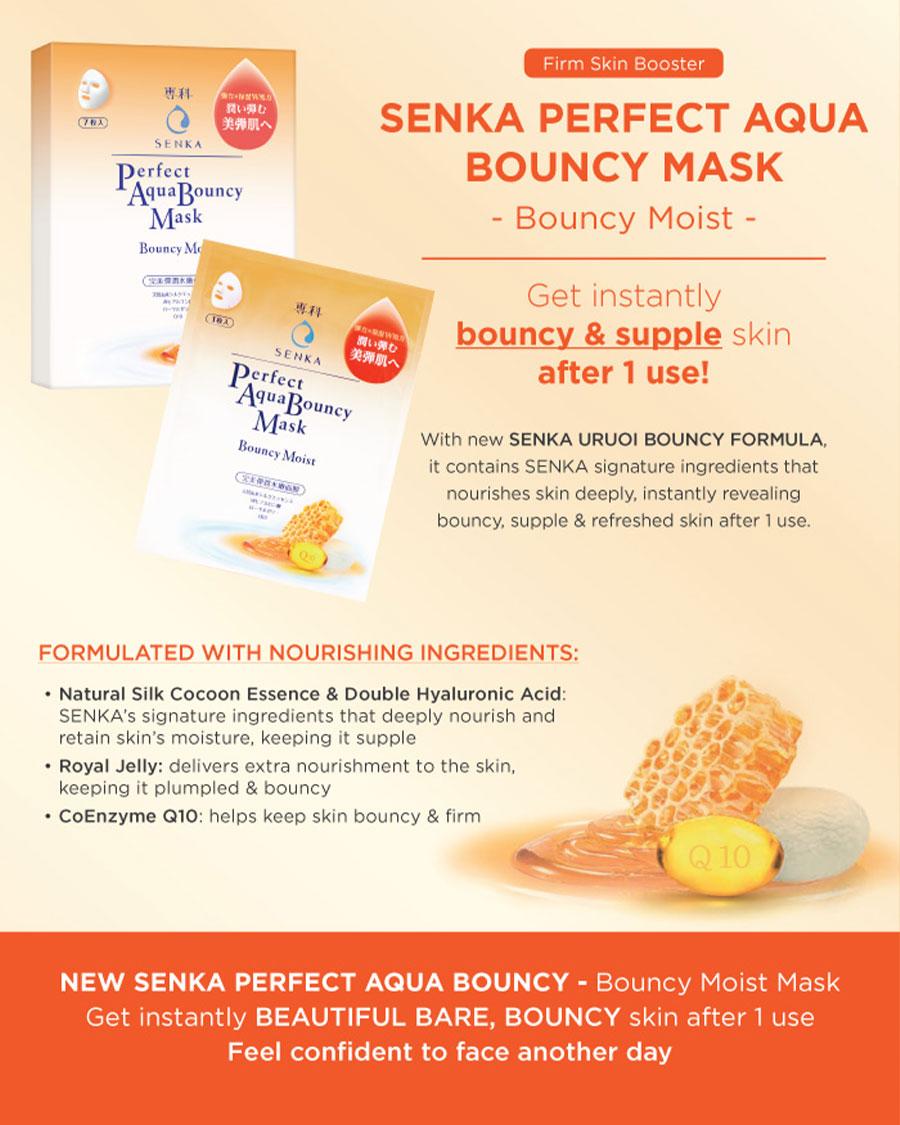 Aqua Bouncy Moist Mask - Detail