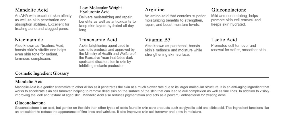 Renewal Treatment Mandelic Acid - Ingredient