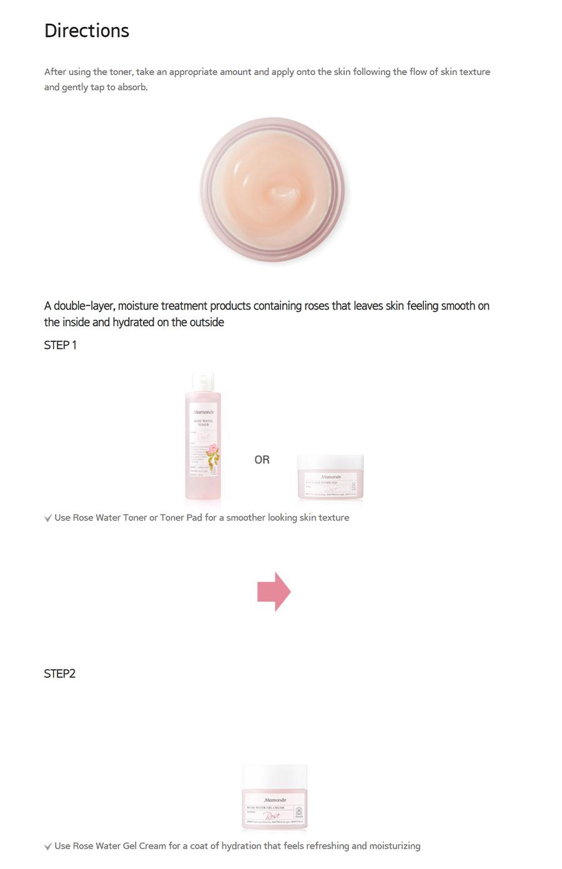 Rose Water Gel Cream - Direction