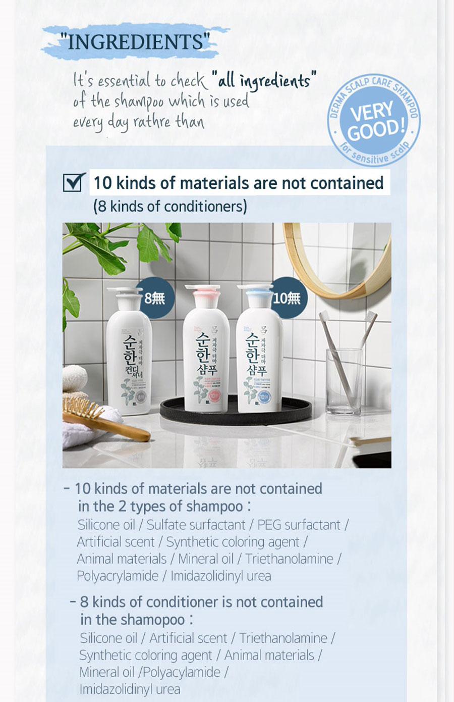 Derma Scalp Care Shampoo - Ingredient