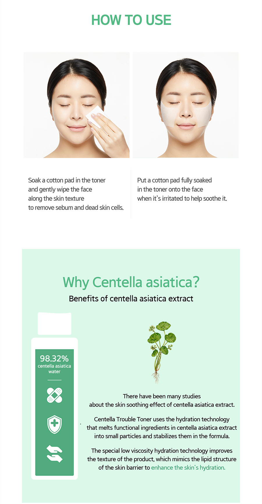 Centella Trouble Toner - How to use