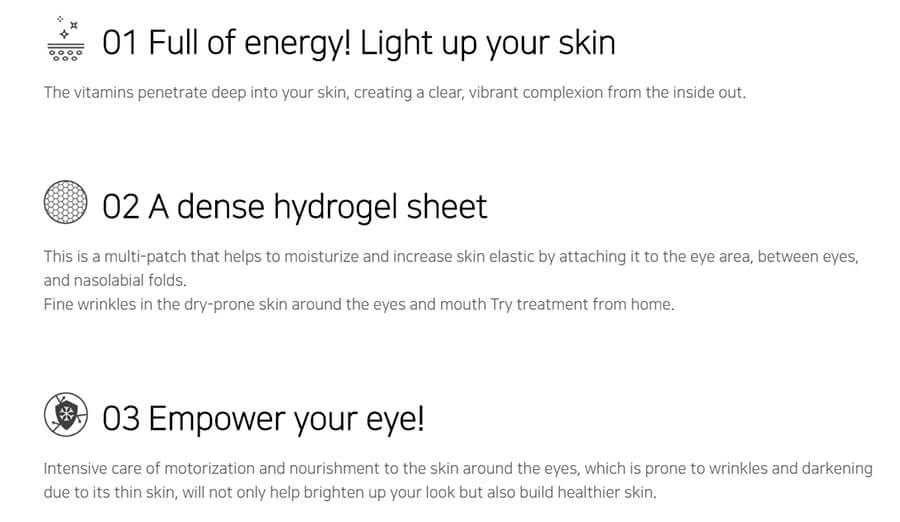 Vitamin Hydrogel Eye Patch - Benefits