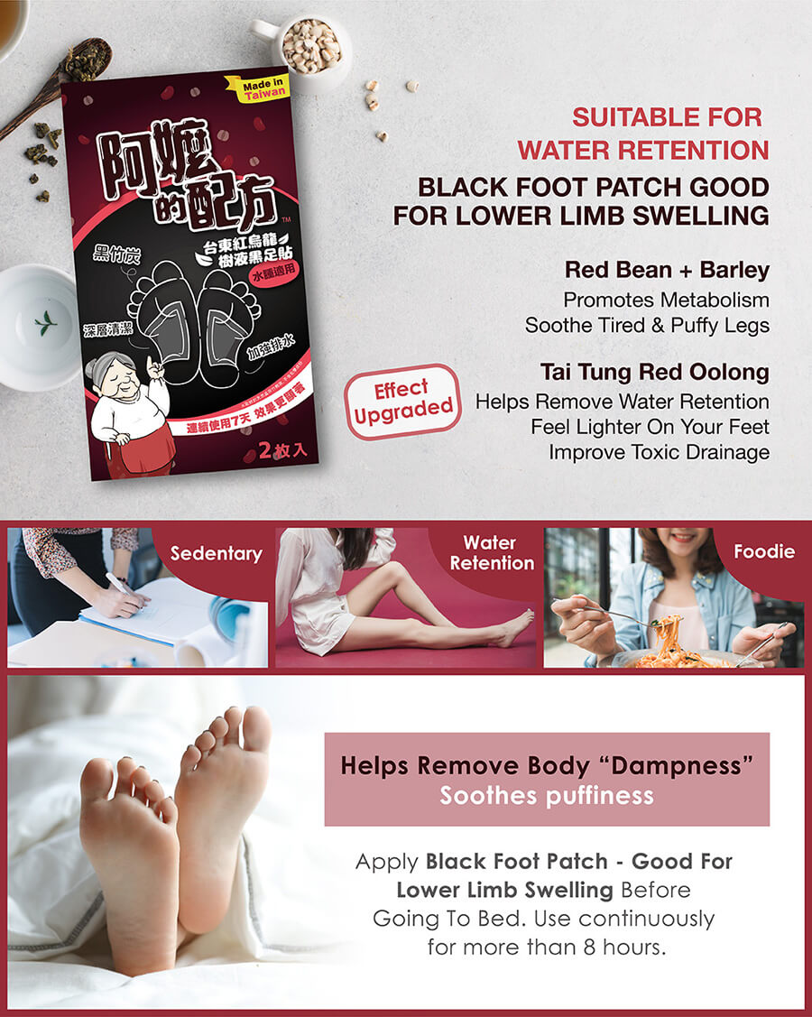 Black Foot Patch Recovery - Lower Limb Swelling